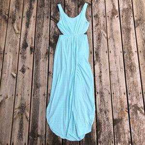 Lush   Striped Cutout Maxi Dress